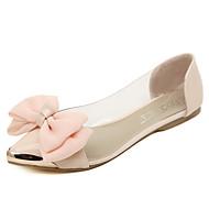 Damen-Flache Schuhe-Lässig-Latex-Flacher Absatz-Komfort-Rosa Mandelfarben