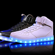 Unisex Sneaker Komfort Leuchtende LED-Schuhe Leder Frühling Sommer Herbst Winter Sportlich Normal LED Niedriger Absatz Weiß Schwarz Rot