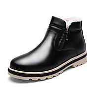 Herre sko Kunstlær Vår Høst Vinter Komfort Trendy støvler Støvler Til Avslappet Svart Grå Kakifarget