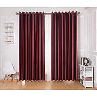 Dvije zavjese Prozor Liječenje Moderna , Jednobojni Living Room Polyester Materijal Zavjese Zavjese Početna Dekoracija For Prozor