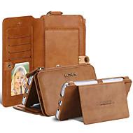 Mert Pénztárca / Kártyatartó / Flip Case Teljes védelem Case Egyszínű Puha Műbőr Samsung Note 5 / Note 4 / Note 3