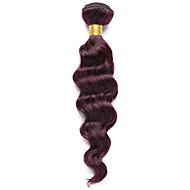 Włosy naturalne Włosy indyjskie Precolored splotów włosów Głębokie fale Przedłużanie włosów 1 sztuka czerwone wino