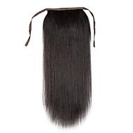 16-24inch réelle pince à cheveux humains de 100% en queue de cheval haute cheveu humain extension de 80g