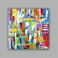 Pintados à mão Abstracto / Paisagem Pinturas a óleo,Modern / Clássico 1 Painel Tela Hang-painted pintura a óleo For Decoração para casa