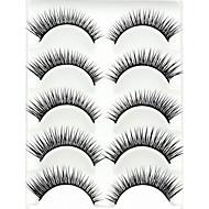 Cílios Cílios Tiras Completas de Cílios Pestana Cruzado Comprimento Natural Alonga a Estremidade do Olho A extremidade é mais longa