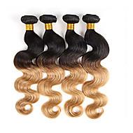 3pcs / lot 1b / 27 djevičanska ljudska kosa isprepliće valove tijela brazilske ljudske kose isprepliću
