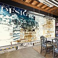 Art Deco / 3D Papel de Parede Para Casa Contemporâneo Revestimento de paredes , Tela Material adesivo necessário Mural , quarto