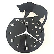 Módní a moderní tradiční Neformální Zvířata Nástěnné hodiny,Kulatý Akrylát Vevnitř Hodiny
