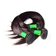 10a indyjskie włosy jedwabne proste 3bundle 300g dużo naturalnego czarnego koloru 100% nieprzerwane indian ludzkie włosy tkają pęczki bez