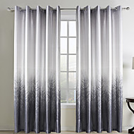 Two Panels Curtain Country Living Room Polyester Material Curtains Drapes Home Decoration For Window