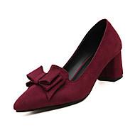 Feminino Saltos Conforto botas de desleixo Couro Ecológico Outono Inverno Casual Conforto botas de desleixo Cadarço Salto BaixoPreto