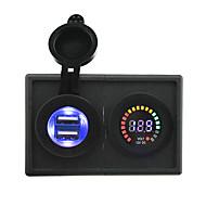 12v LED-Digitalanzeige Volt- und 4.2a USB-Adapter mit Panel-Gehäuse Halter für LKW rv Auto Boot