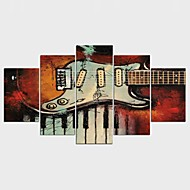 Kuuluisa Abstraktit maisemakuvat Klassinen Moderni,5 paneeli Kanvas Mikä tahansa muoto Painettu Wall Decor For Kodinsisustus