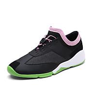 Unissex-Tênis-Solados com Luzes-Rasteiro-Branco Preto Cinzento Rosa e Branco-Couro Ecológico-Casual