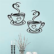1Pcs Beautiful Design Coffee Cups Cafe Tea Wall Stickers Art Vinyl Decal Kitchen Restaurant Pub Decor