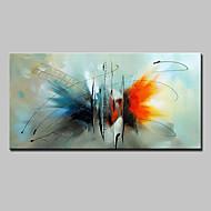 Kézzel festett Absztrakt Állat Vízszintes,Modern Európai stílus Egy elem Vászon Hang festett olajfestmény For lakberendezési