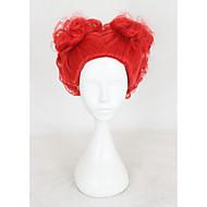 Mulher Perucas sintéticas Sem Touca Curto Ondulado Vermelho Repartida ao Meio Peruca para Cosplay Peruca de Halloween Peruca de carnaval