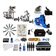 Полный комплект татуировки1 х Стальная тату-машинка для контура и заливки 1 х Роторная тату-машинка для контура и заливки 1 х сплава