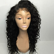 여성 인모 레이스 가발 브라질리언 헤어 인모 전면 레이스 무접착제 앞면 레이스 밀도 베이비 헤어 포함 컬리 가발 흑옥색 블랙 다크 브라운 미듐 브라운 #6 잛은 중 긴 100% 핸드 타이드 자연 헤어 라인 흑인여성 제품