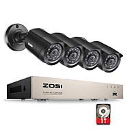 zosi®8-канальный HD-1080n TVI Видеорегистратор видеонаблюдения комплект камеры 4x 1280tvl крытый открытый ИК непогоды камер 1TB