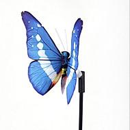 zonne-verlichting kleurrijke geleid fiber vlinder decoratieve verlichting