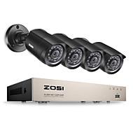 zosi®8-канальный HD-1080n TVI комплект камеры видеонаблюдения Видеорегистратор 4x 1280tvl крытый наружные ИК-камеры от атмосферных воздействий