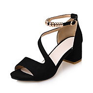 Női Szandálok Kényelmes Könnyű talpak Club cipő Bőrutánzat Tavasz Nyár Ruha Party és Estélyi Kényelmes Könnyű talpak Club cipő