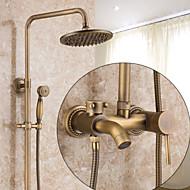 עתיק גס מודרני סט מרכזי מפל ניתן לסיבוב קדם שטיפה with  שסתום קרמי חור ידית אחת אחת for  נחושת עתיקה , ברז למקלחת