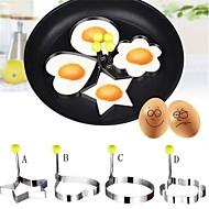 4 개 DIY 금형 For 계란에 대한 액체의 경우 스테인레스 스틸 크리 에이 티브 주방 가젯 친환경적인 고품질