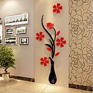Joulu Romantiikka Kukkakuviot Wall Tarrat 3D-seinätarrat Koriste-seinätarrat,Vinyyli materiaali Kodinsisustus Seinätarra