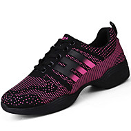 Women's Athletic Shoes Spring Fall Comfort PU Outdoor Flat Heel Fuchsia White