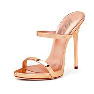 Feminino-Sandálias-Chanel Sapatos clube-Salto Agulha--Couro Ecológico-Casamento Escritório & Trabalho Social Festas & Noite