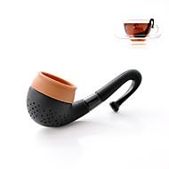 Tubo de fumo infusor de chá silicone filtro de filtro de folhas soltas ferramentas de cozinha bebida