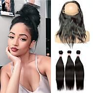 En Pack Solution Indisk hår Rett 12 måneder 4 deler hår vever