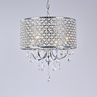 Lustres ,  Contemprâneo Bateria Galvanizar Característica for Cristal Metal Sala de Estar Quarto Sala de Jantar