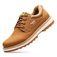Herrer Støvler Formelle sko Modestøvler Læder Efterår Vinter Afslappet Formelle sko Modestøvler Sort Brun Flad