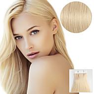 20kpl nauha hiusten pidennykset # 613 ranta vaalea 40g 16inch 20inch 100% hiuksista naisille