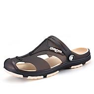 Αντρικό Παντόφλες & flip-flops τρύπα Παπούτσια Συνθετικό Άνοιξη Καλοκαίρι Ύπαιθρος Μαύρο Σκούρο μπλε Γκρίζο Βαθυγάλαζο Πράσινο Επίπεδο