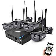 Jooan® 4ch 960p wireless camera de supraveghere video kit kit de securitate 4 * 1.3mp exterior night vision wifi camera IP