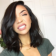 Malaysian Human Hair Lace Wigs Side Part Natural Full Lace Wigs Wavy Short Bob Hair Wigs Natural Color Cut Bob Glueless Lace Wigs for Women