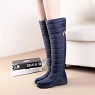Feminino Botas Conforto Camurça Inverno Casual Conforto Preto Azul Rasteiro
