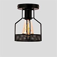 ヴィンテージ1ライトブラックメタルケージロフト天井ランプフラッシュマウントダイニングキッチン照明器具