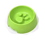 ネコ 犬 餌入れ/水入れ ペット用 ボウル&摂食 防水 携帯用 耐久 Brown グリーン