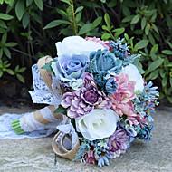 """Bryllupsblomster Buketter Bryllup Perler Blonde 11.8"""" (Ca. 30cm)"""