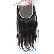 Silkki suoraan 5x5inch pitsi sulkeminen ihmisen hiukset pitsi pitsi sulkeminen vauvan hiukset