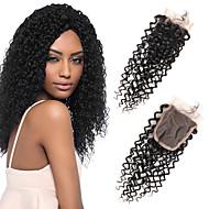 1 kpl / pakkaus brazilian body aalto 4 * 4 swiss pitsi sulkemista hiukset 100% remy ihmisen hiukset 3 tyyppinen tyyli valita