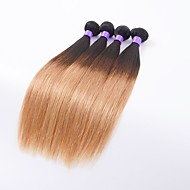 Nuance Indisk hår Lige 6 måneder 4 Dele hår vævninger 0.4 kg Hurtigt hårflet
