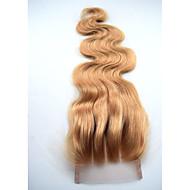 4x4 Sveitsin pitsi sulkemiseen mansikka blondi # 27 kehon aalto pitsi sulkemiseen Vaalea hiuksista sulkemiset vapaa osa keskiosan