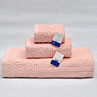 Badehåndkle Sett,Solid Høy kvalitet 100% Bomull Håndkle