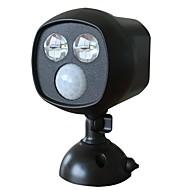 Doodda hw101s-2 2led lâmpada exterior infravermelho pátio sensor de corpo luz led luz solar à prova d'água